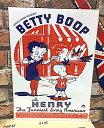 ベティちゃん グッズ アメリカン雑貨 台紙付きポスター Betty Boop ベティ・ブープ ベティ ブープ ベティーちゃん 壁飾り-LA0002