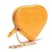 フォリフォリ 財布 メンズ Folli Follie 小銭入れ コインケース ハート型 WA0L035SY パテントレザー イエロー