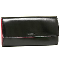 ディーゼル財布DIESELX02801PR378H2925FRESH&BRIGHTAMAZONITE長財布BLACK/RASPBERRY【new1129】
