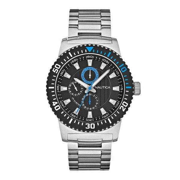 ノーティカ 時計 メンズ NAUTICA A18679G NST16 MULTI SPORT ACTIVE マルチ クォーツ 腕時計 ウォッチ シルバー/ブラック/ブルー ノーティカ 時計 メンズ NAUTICA
