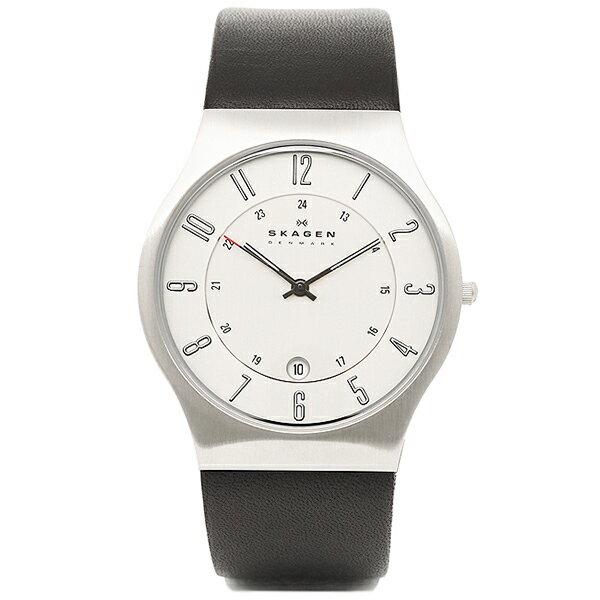 スカーゲン 時計 メンズ SKAGEN 233XXLSLC ウルトラスリム メッシュ 腕時計 ウォッチ ブラック/ホワイト【new0323】 スカーゲン 時計  SKAGEN 腕時計 ウォッチ