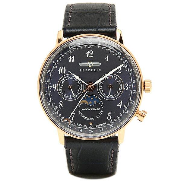 ツェッペリン 時計 メンズ ZEPPELIN 70393 7039-3 HINDENBURG 腕時計 ウォッチ ネイビー/ローズゴールド ZEPPELIN ツェッペリン