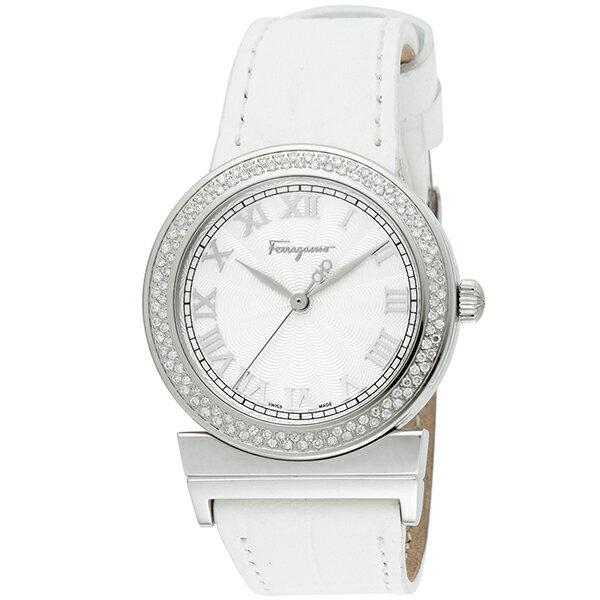 サルヴァトーレフェラガモ 時計 レディース Salvatore Ferragamo F72SBQ9102S001 グランドメゾン 腕時計 ウォッチ ホワイト/シルバー