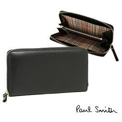 �ݡ��륹�ߥ����ۥ��PAULSMITH4337W731LEATHERBLONGWALLETĹ����BLACK