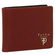 Furbo design 財布 フルボデザイン FRB113 GEAR CARBON ギアカーボン メンズ 二つ折り財布 RED/BLACK