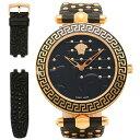ヴェルサーチ 時計 VERSACE VK7030013 VANITAS ヴァニタス クォーツ レディース腕時計ウォッチ ブラック/ゴールド