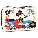レスポートサック コスメポーチ LESPORTSAC 7121 P943 EXTRA LARGE RECTANGULAR COSMETIC ポーチ MINNIE HULA
