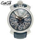 【残り1点】【送料無料】GAGAMILANOガガミラノ5010.5MANUALE48MMACCIAIOマヌアーレ48MMアッチャイオブルーメンズウォッチ時計腕時計