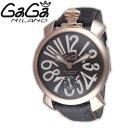・【限定TIMESALE】【送料無料】GAGAMILANOガガミラノ5011.7-GRYMANUALE48MMマヌアーレ48MMブラウン/ゴールドメンズ腕時計【sa0410】