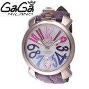 ・【残り1点】【限定TIMESALE】【送料無料】GAGAMILANOガガミラノ5011.9-PUPMANUALE48MMマヌアーレ48MMホワイト/ゴールド/パープルメンズ腕時計【sa0410】