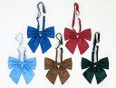 セーラー服用リボン(紺・赤・水色・茶・黒の全5色)ひもが長い蝶型リボン ☆メール便対応☆