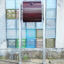 【送料無料】郵便ポスト 郵便受け 錆びにくい メールボックス スタンドタイプ ブラウン色 ステンレスポスト(brown)