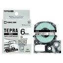 (まとめ) テプラテープ キングジム 「テプラ」PRO SRシリーズ専用テープカートリッジ SS6KE 4971660772766 ●6mm幅 1個【10×セット】