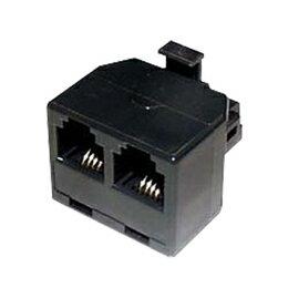 【ポイント20倍】ミヨシ(MCO)モジュラ-分配アダプタ 6極4芯/2芯対応 黒 TA-42BK