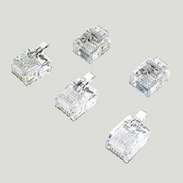 ミヨシ(MCO)モジュラ-プラグ 6極2芯用 10個入り TA-602P