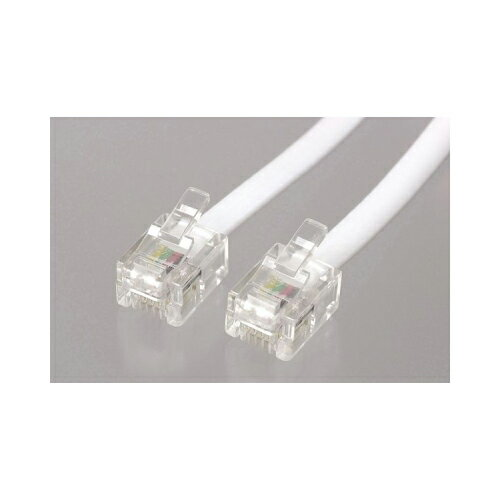 YAZAWA ストレートモジュラーケーブル 0.5m 白 TP1005W