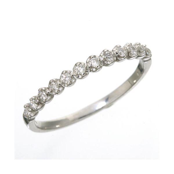 【ポイント最大35倍】K18 ダイヤハーフエタニティリング ホワイトゴールド 11号 指輪 ダイヤモンドハーフエタニティリング