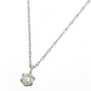 【ポイント最大35倍】K18ダイヤモンド0.1ctペンダント ホワイトゴールド 0.1カラットダイヤネックレス