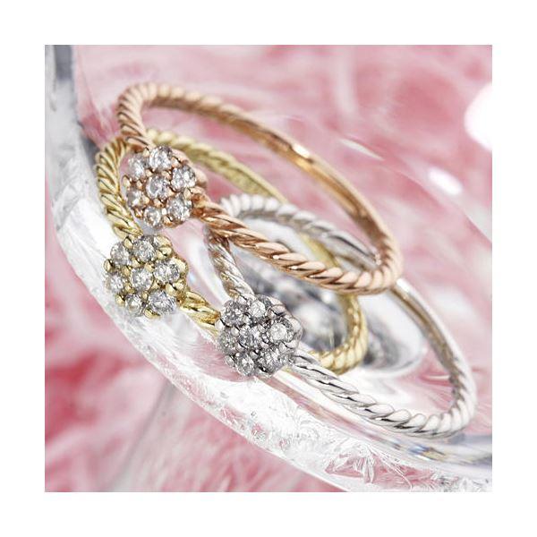 【ポイント最大35倍】k18ダイヤリング 指輪 YG(イエローゴールド) 15号 18金 ダイヤモンドリング