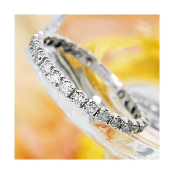 【ポイント35倍】プラチナPt900  0.5ctダイヤリング 指輪エタニティリング 13号 プラチナ900 0.5カラットダイヤモンドエタニティリング【ビッグバーゲン】