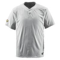 デサント(DESCENTE) ベースボールシャツ(2ボタン) (野球) DB201 シルバー Mの画像