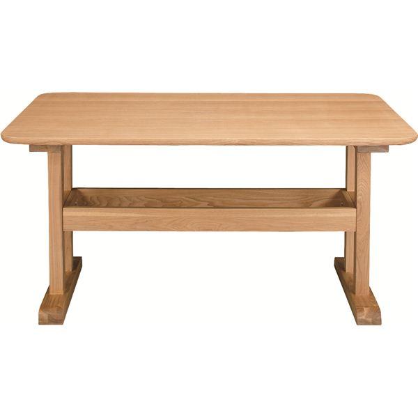 ダイニングテーブル 【デリカ】 長方形 木製 4人掛けサイズ HOT-456NA ナチュラル 食卓机にぴったり!天然木を使用したシンプルなテーブル(机)太い