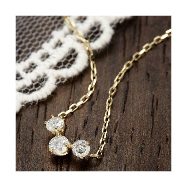 K18YG0.2ctダイヤモンドプレミオールペンダント ダイヤネックレス
