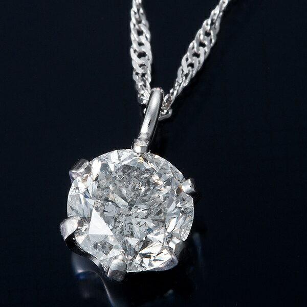【ポイント35倍】純プラチナ 0.3ctダイヤモンドペンダント/ネックレス スクリューチェーン ダイヤネックレス Pt999 0.3カラット 一粒ダイヤモンドネックレス