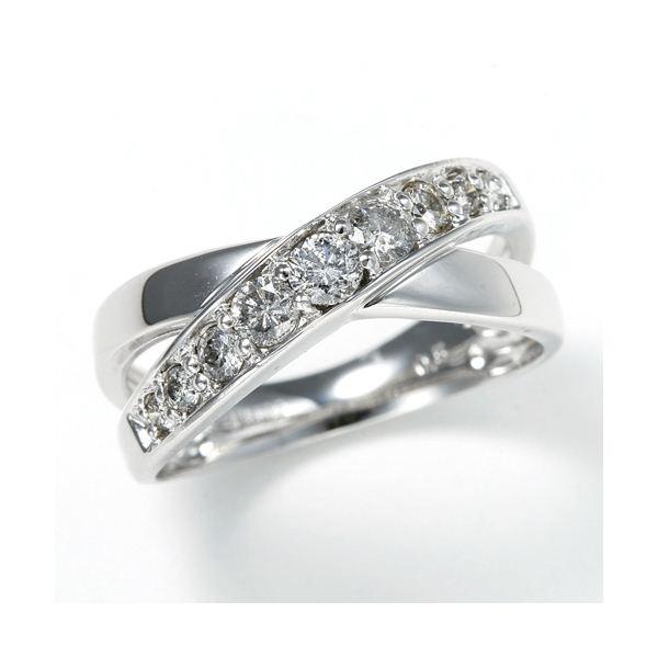 【ポイント最大35倍】0.5ct ダブルクロスダイヤリング 指輪 エタニティリング 13号 ダイヤモンドエタニティリング