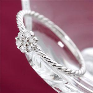 【ポイント最大35倍】K18WGダイヤリング 指輪 15号 18金 ダイヤモンドリング