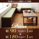 【ポイント20倍】収納ボックス【Diver】日本製ユニット式畳ボックス収納【Diver】ディバー 幅90タイプ(1体)+幅180タイプ(1体)セット【代引不可】