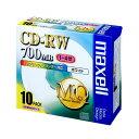 (まとめ) マクセル データ用CD-RW 700MB 4倍速 ホワイトプリンターブル 5mmスリムケース CDRW80PW.S1P10S 1パック(10枚) 【×3セット】