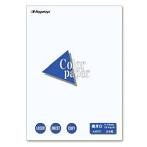【ポイント20倍】(業務用100セット) Nagatoya カラーペーパー/コピー用紙 【A4/最厚口 25枚】 両面印刷対応 ホワイト(白) 企画書/プログラム/案内状/POP等。印刷用紙 OA用紙 カラー用紙