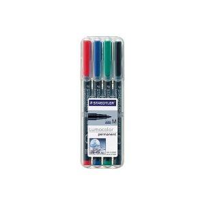 (業務用30セット) ステッドラー ルモカラー 317 WP4 油性細書 4色セット サインペン・マーキングペン 油性マーカー 事務用品 まとめ