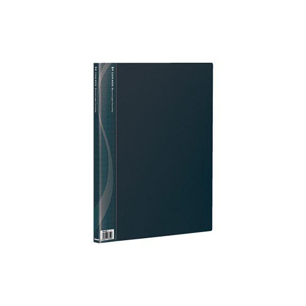 【ポイント20倍】(業務用セット) B4クリアブック 20ポケット ベーシックカラー CB1022D-N ブラック【×10セット】 業務用お得セット