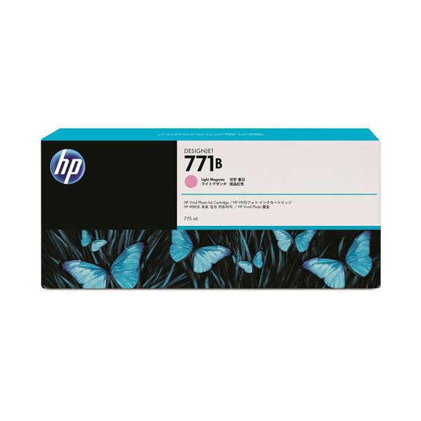 【ポイント20倍】(まとめ) HP771B インクカートリッジ ライトマゼンタ 775ml 顔料系 B6Y03A 1個 【×3セット】 インクカートリッジ 純正インクカートリッジ・リボンカセット【スタイリッシュ】