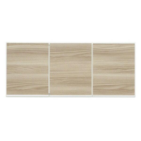 【ポイント20倍】上置き(ダイニングボード/レンジボード用戸棚) 幅100cm 日本製 ブラウン 【完成品】【開梱設置】【】 シンプルできれい。組み合わせて便利な木目調上置き棚