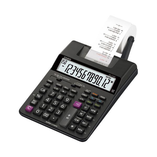 【マラソンでポイント最大35倍 ブラインド ラック】カシオ計算機 プリンター電卓HR-170RC-BK:インテリアの壱番館