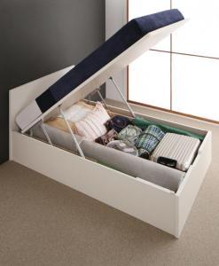 フラットヘッドコンセント付跳ね上げ収納ベッド