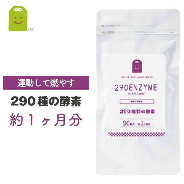 酵素サプリメント290種の酵素配合の健康維持(90粒・約30日分)メール便送料無料酵素サプリ野草酵素