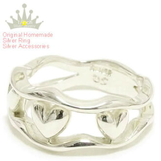 【MAHO】Three Hearts Silver Ring