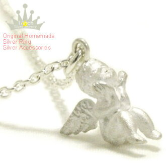 Antique プチエンジェルシルバーネックレス-Angel beleaguered-Ruby marguerite Angel, スターリングネックレス, 925 Silver, made to order 10P10Nov13fs3gm
