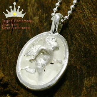 コクーンクロスジョギングエンジェルシルバー pendant Ruby marguerite Angel, スターリングネックレス, 925 Silver, bespoke, handmade, cross 10P10Nov13fs3gm