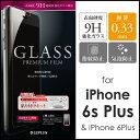 iPhone 6sPlus iPhone 6Plus ガラスフィルム「GLASS PREMIUM FILM」通常0.33mm 【3D Touch(3Dタッチ)完全】【感圧センサー完全】【ケースと併用OK】
