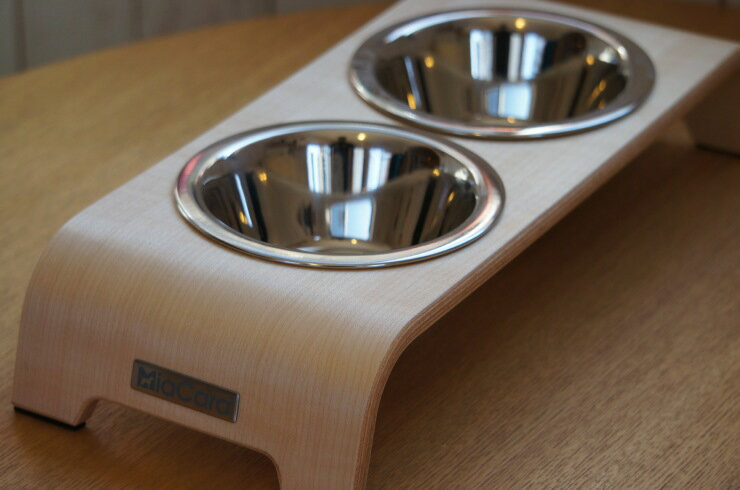 MiaCara フードボール【dogBar Lサイズ】Made in swiss 犬用食器台 食器台