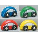 車 4輌セット 【知育玩具】【木製玩具】【木製レール】【おもちゃ】