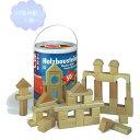 筒入積み木(白木) 50P 【知育玩具】【木製玩具】【ブロック遊び】【ハーマンロスバーグ】