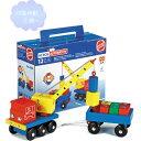 クレーン車 【知育玩具】【木製玩具】【ブロック遊び】【ハーマンロスバーグ】