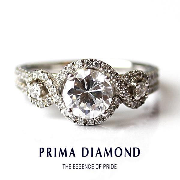 18金 ホワイトゴールド ダイヤモンド レディース 指輪 リング K18WG ブライダルジュエリー 結婚 婚約 贈り物 贈物 ギフト プレゼント 正規代理店 PRIMADIAMOND プリマダイヤモンド 送料無料