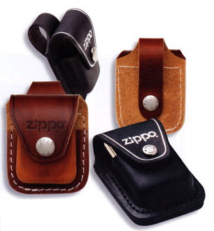 Zippo lighters Zippo lighter leather and wooden leather case black belt LPLBK (Made In USA)